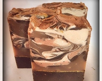Free shipping Organic Luxurious Chocolate Espresso Bar Soap/bar soap