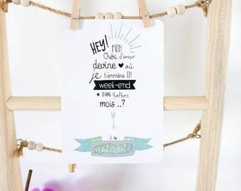 Postcard scratch - dad pregnancy announcement