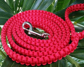Red Paracord Dog Leash, Red Dog Leash, Red Dog Leashes, Red Dog Lead, Red Puppy Leash, Red Puppies Leash, Red Pup Lead, Red Paracord Leash