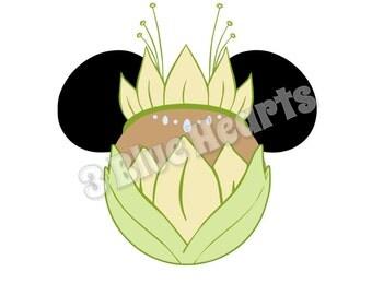 Tiana Mickey Head svg pdf dxf studio, Tiana SVG dxf pdf Studio, Princess and the Frog SVG dxf pdf Studio, Disney SVG Studio, Princess Mickey