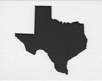 Pack of 3 Texas State Stencils, Made from 4 Ply Mat Board 18x24, 16x20 and 11x14