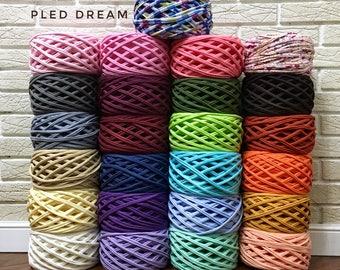 T-shirt yarn, crochet yarn, Fabric knitting yarn, Chunky yarn, Spaghetti yarn, cotton yarn, yarn Home decor, Tee shirt yarn Necklaces