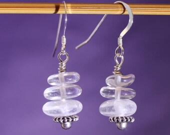 Rock Crystal Earrings, Gemstone Earrings, April Birthstone, Bridal Earrings, Bridesmaid Gift, Gift for Mum, Gift for Wife