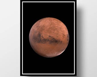Mars Print, Planet Print, Planet Wall Art, Space Wall Art, Mars Wall Art, Mars Photography, Space Print, Planet Art, Cosmos Wall Art