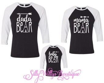Mama Bear shirt, Family matching shirts, Papa bear, Baby bear