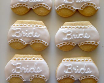Bride Bachelorette Cookies