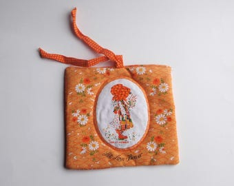 Holly Hobbie Vintage Orange Kitchen Hot Pad
