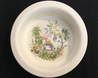 """Vintage Royal Kent """"Mouse Party"""" Porcelain Child's Bowl"""