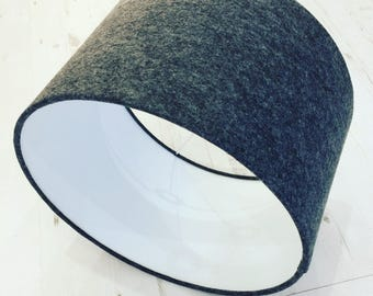 Charcoal Wool Felt Lampshade - Large