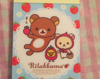 San-X Rilakkuma Kawaii Mini memo pad