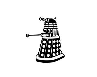 Dalek Decal - Doctor Who Dalek, Doctor Who Decal, Laptop Sticker, Dalek Sticker
