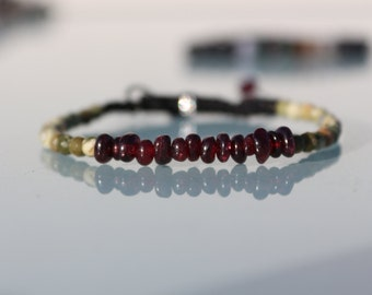 "Jewel lithotherapy, bracelet ""Passion and connection to the Earth"""