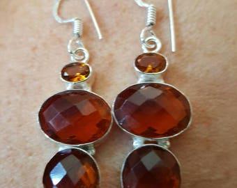 Honey Quartz Faceted Earrings!