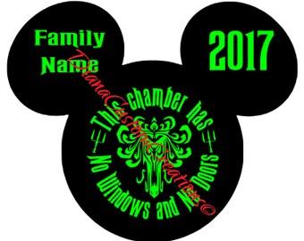 Haunted mansion Mickey Head SVG Cricut Silhouette