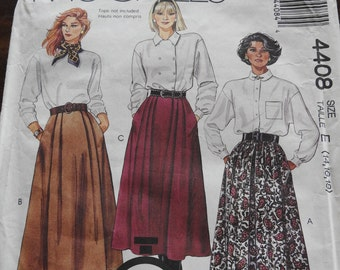 McCalls 4408 Vintage Women's Skirts Sewing Pattern