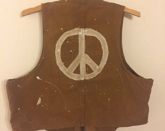 Flower of peace army vest