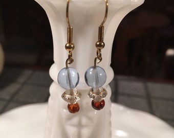 Blue and Brown Earrings