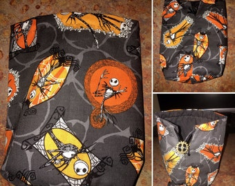 Nightmare Before Christmas - Jack Skellington dice bag, drawstring bag, coin purse, pouch, Halloween, spooky