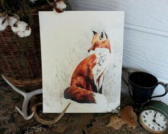 Red Fox Watercolor PRINT -SALE-buy 2 get 1