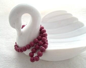 Strand of 8 mm Glass Beads - Raspberry (1624)