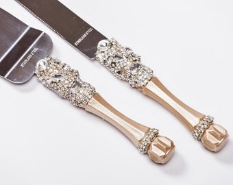 wedding cake cutter sets wedding cake servers amp knives etsy 8609
