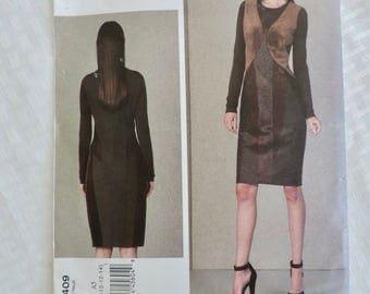 Vogue V1409 Size 6-14 Misses Close-Fitted Lined Dress Donna Karen Sewing Pattern / UNCUT FF