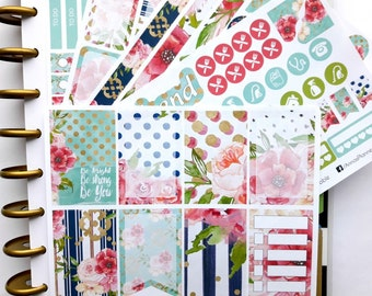 Happy Planner weekly sticker kit, watercolor sticker kit, floral stickers, weekly stickers, planner stickers, watercolor stickers,weekly kit