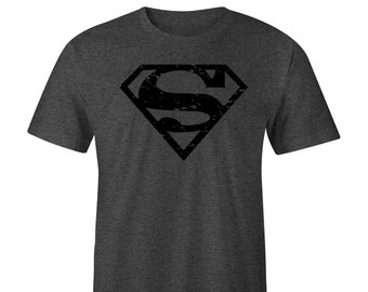 Superman Blacked Out T-shirt, Superman Tee, DC Superman, Superman Tees, Superman Shirts, Superman vs Batman