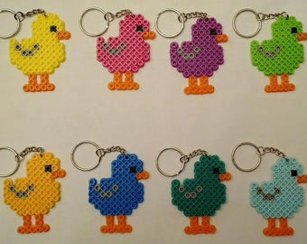 Baby chick keychains - Set of 8 - Great for farm party themes, Easter & more!