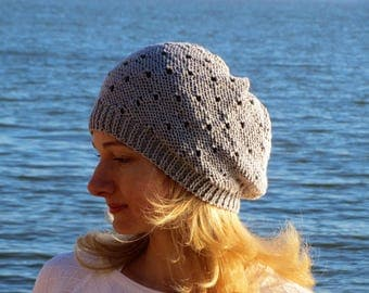 Beach hat cotton hat gray hat sunhat knit hats for women summer hat lace hat cotton anniversary gift for her custom sun hat beach wedding