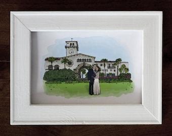 Custom Couple's Portrait - Custom Wedding Illustration  Bride and Groom - Custom Wedding Portrait - Personalized Portrait - Wedding Drawing