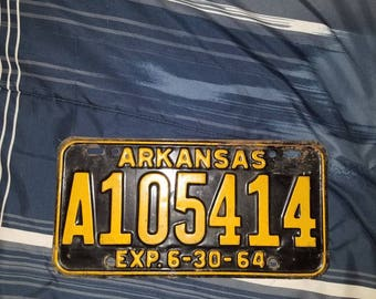 Arkansas 1964  license plate