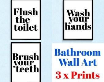 Bathroom Etiquette bathroom etiquette | etsy