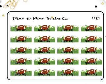 1283~~Football Game Day Planner Stickers.