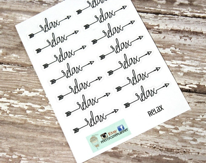 Planner Stickers - Relax Word Stickers - Reminder Stickers - Functional Stickers - Snarky Adult stickers - Fits Erin Condren - Happy Planner