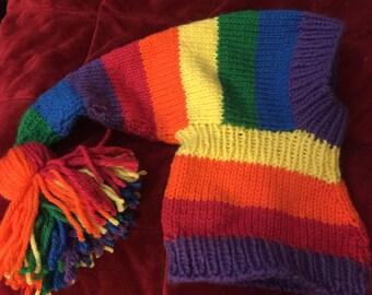 Rainbow greyhound / dog hat custom size