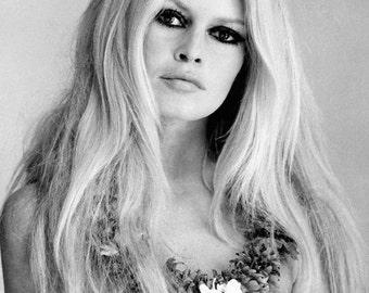 Brigitte Bardot Color Print Portrait Photo Art Poster Print