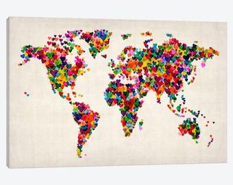 World map wall art  Etsy