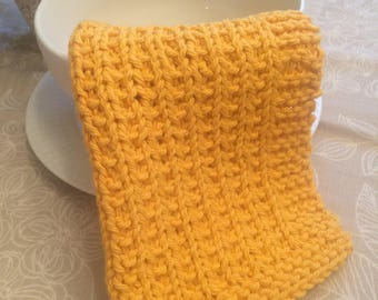 Gold Knitted Dishcloth