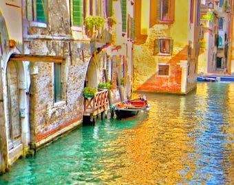 Venice photo, Italy photo, boat photo, gondola photo, fine art italy, fine art photo,