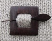 Cube Shawl Pin - Sale - Reduced 30%