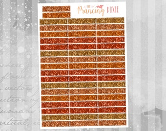 Orange Glitter: Headers }} .. Planner Stickers . ECLP . Vertical Erin Condren LifePlanner™ . Functional Stickers