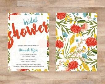 Floral Summer Bridal Shower Invite
