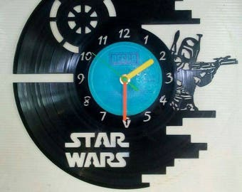 Star wars record clock