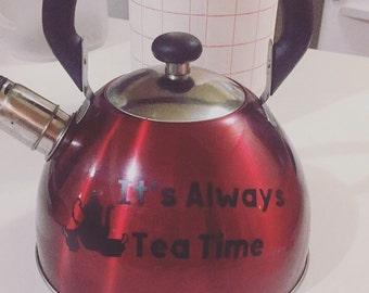 It's always tea time vinyl sticker
