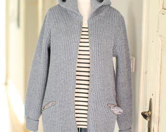 Jacket with hood, windbreaker, handmade, unisex