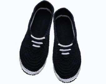 Slippers,  Women slippers, Ballet , Crochet  Shoes, Knit Slippers, Mens gift.