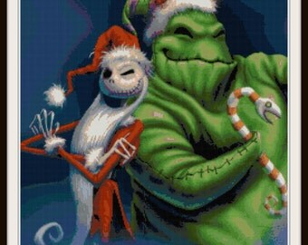 Nightmare Before Christmas Cross Stitch Pattern - Jack Skellington Cross Stitch