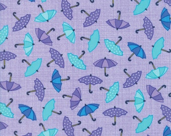 Moda Fabric -  Rainy Day - Pouring Purple - 22291 11 - Purple/Blue - Cotton fabric by the yard