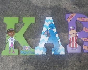 Doc Mcstuffins Painted letters